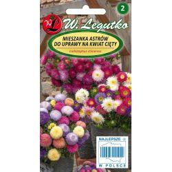 Aster chiński na kwiat cięty - mieszanka