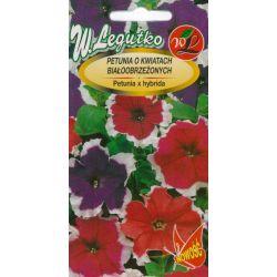Petunia o pędach zwisających, kwiaty białoobrzeżone - mieszanka F2