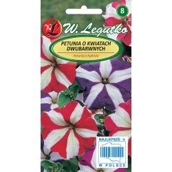 Petunia o pędach zwisających, kwiaty dwubarwne, Star F2- mieszanka