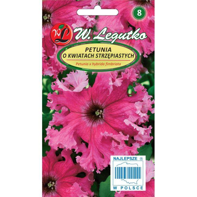 Petunia o pędach zwisających, kwiaty postrzępione- różowa