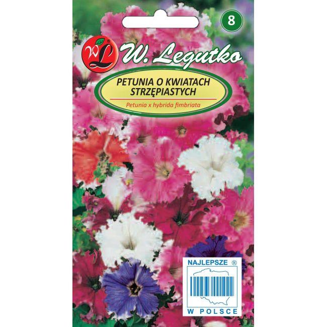 Petunia o pędach zwisających, kwiaty postrzępione- mieszanka