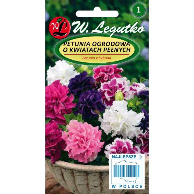 Petunia o pędach zwisających, mieszanka o kwiatach pełnych, Polka F2
