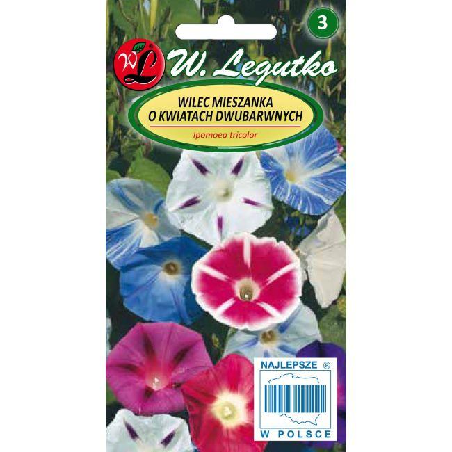 Wilec, Powój pnący - mieszanka o kwiatach dwubarwnych