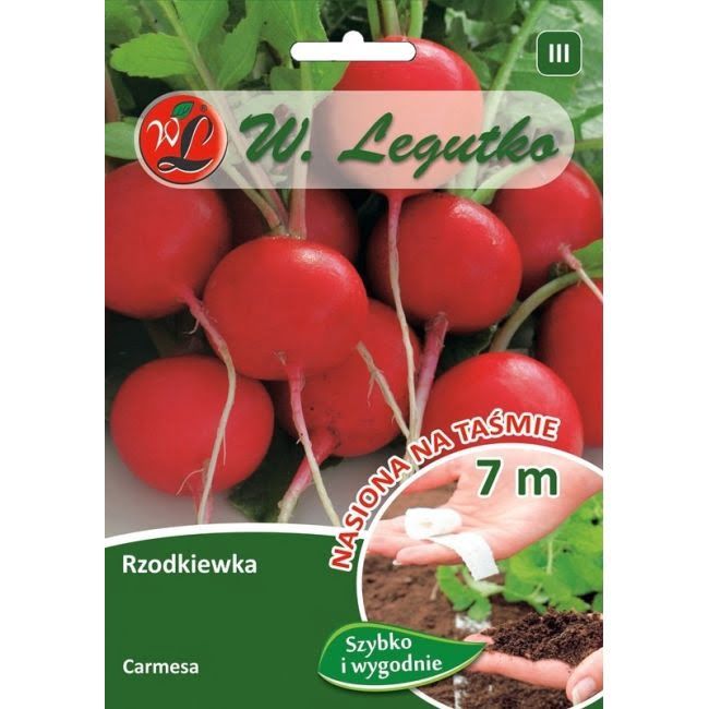 Rzodkiewka - Carmesa - taśma 7m