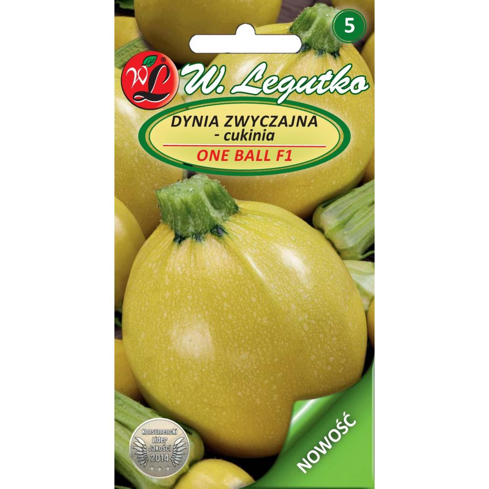 Dynia zwyczajna - cukinia - One Ball F1 pomarańczowa NOWOŚĆ