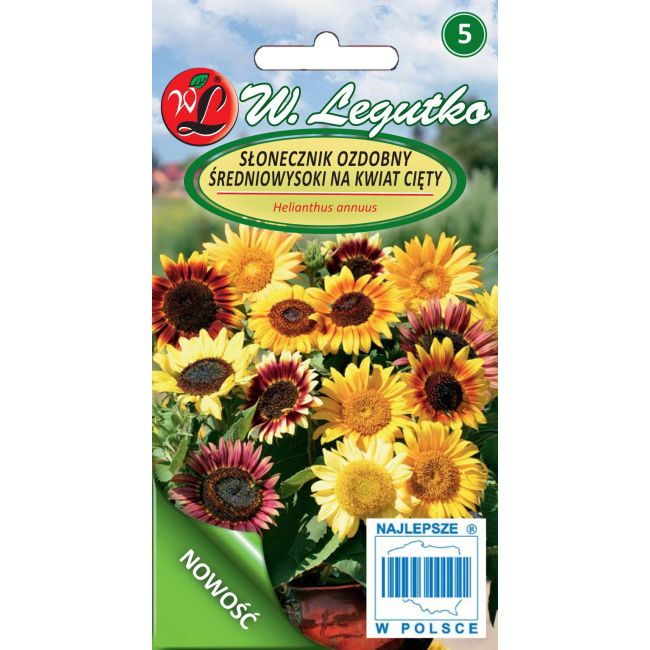 Słonecznik średnio wysoki pojedynczy - mix na kwiat cięty