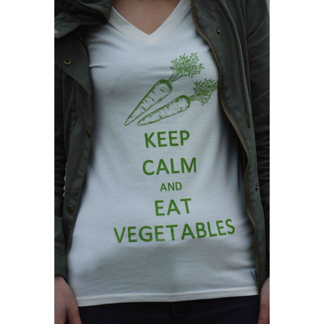 "T-Shirt - ""KEEP CALM AND EAT VEGETABLES"" rozmiar S"