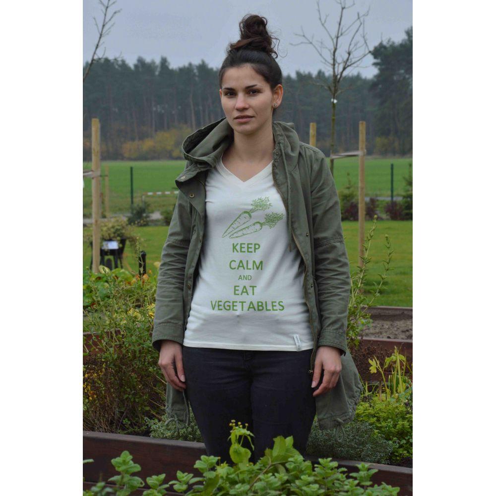 "T-Shirt - ""KEEP CALM AND EAT VEGETABLES"" rozmiar L"