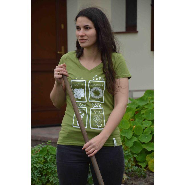 T-Shirt - Sałata, Słonecznik, Marchew, Cynia - rozmiar M