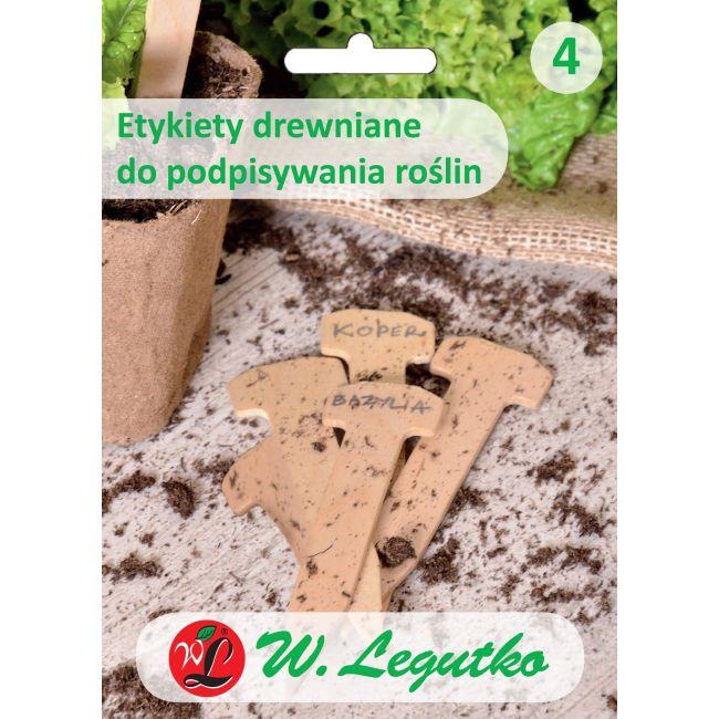 Etykiety drewniane do podpisywania roślin 5szt.