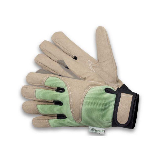Rękawice ogrodnicze Kurrebo - zielono-beżowe - rozmiar 8