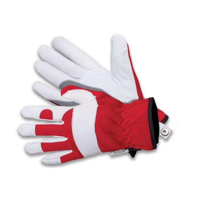 Rękawice ogrodnicze Forester - czerwono-białe - rozmiar 10