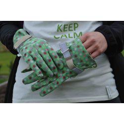 Rękawice ogrodnicze Majbacka - zielone - rozmiar 9