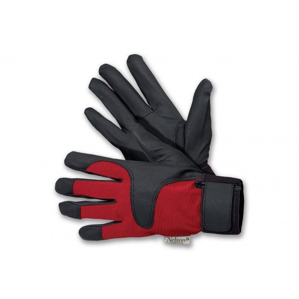 Rękawice ogrodnicze Drip - różowo-czarne - rozmiar 8