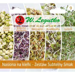 Nasiona na kiełki - Zestaw Subtelny Smak