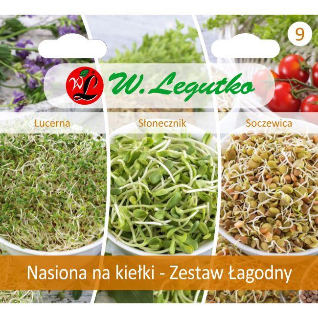 Nasiona na kiełki - Zestaw Łagodny