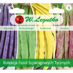 Kolekcja fasol szparagowych tycznych