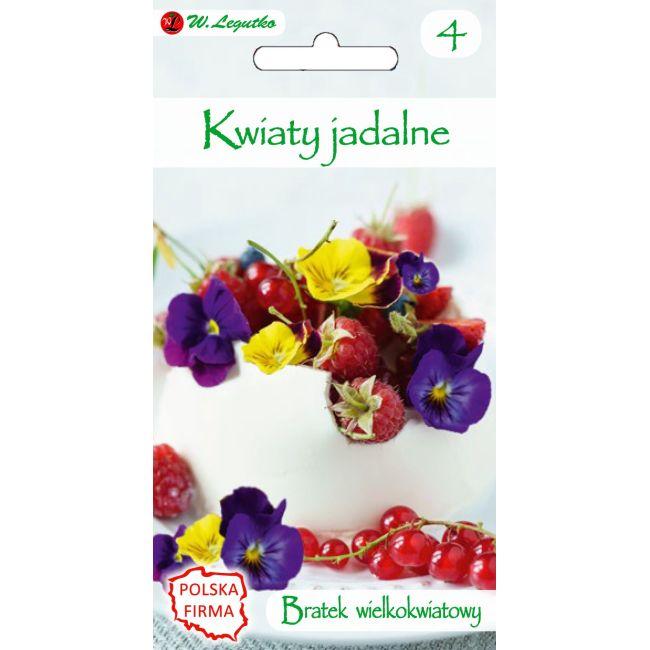 Kwiaty jadalne - Bratek wielkokwiatow