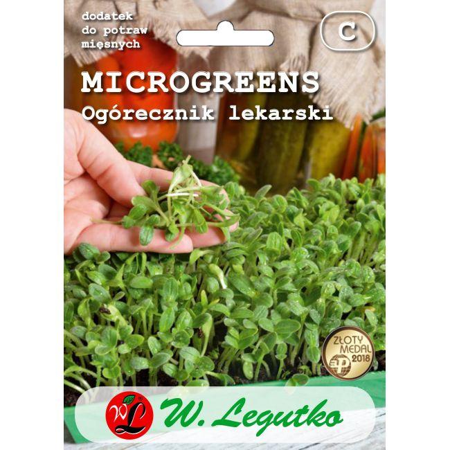 Microgreens - Ogórecznik lekarski/Borago officinalis///20.00g
