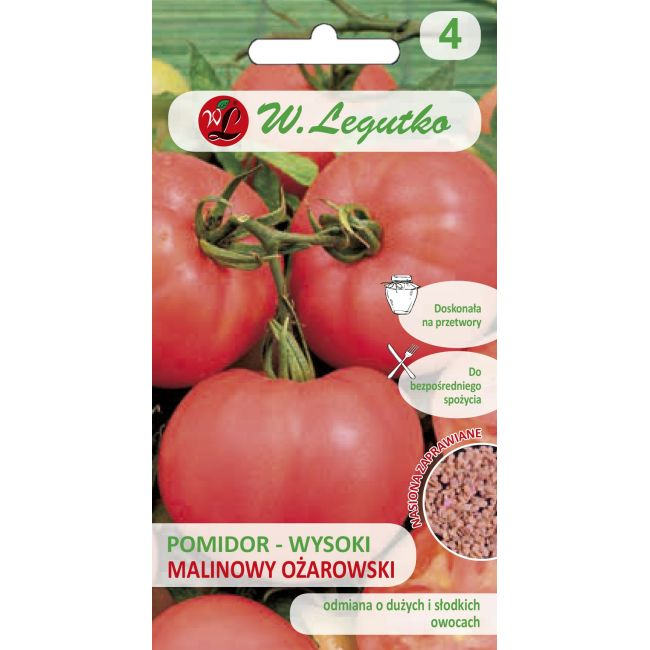 Pomidor gruntowy wysoki - Malinowy Ożarowski - nas. inkrustowane