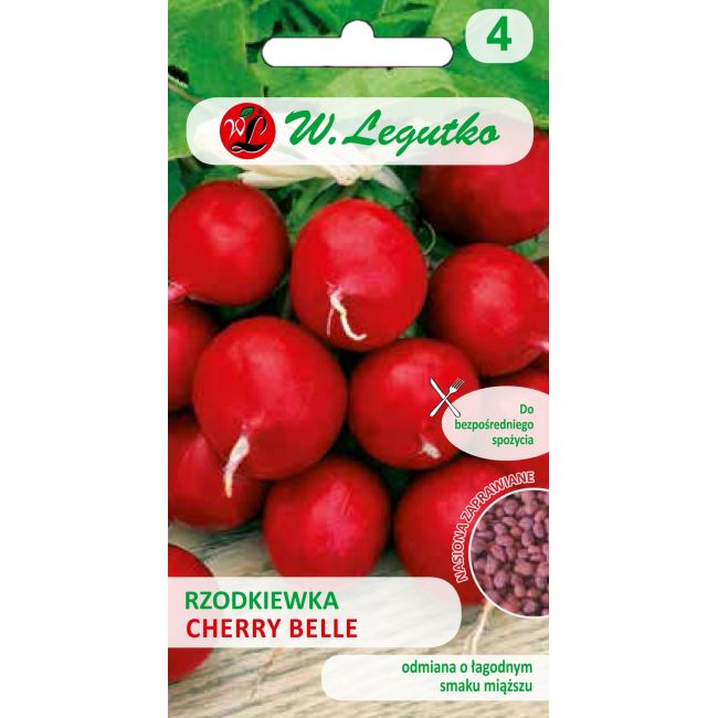 Rzodkiewka Cherry Belle - nasiona inkrustowane NOWOŚĆ 10,00g
