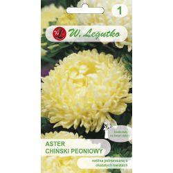 Aster chiński peoniowy - żółty