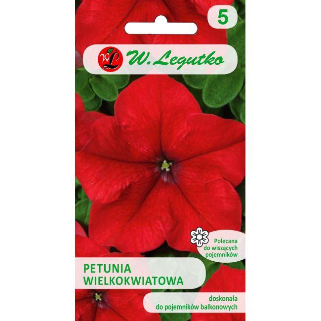 Petunia ogrodowa - czerwona
