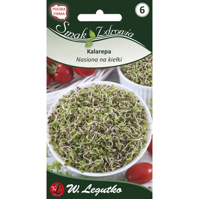 Nasiona na kiełki - kalarepa zielona/Brassica oleracea convar.acephala var. gongylodes///10.00g