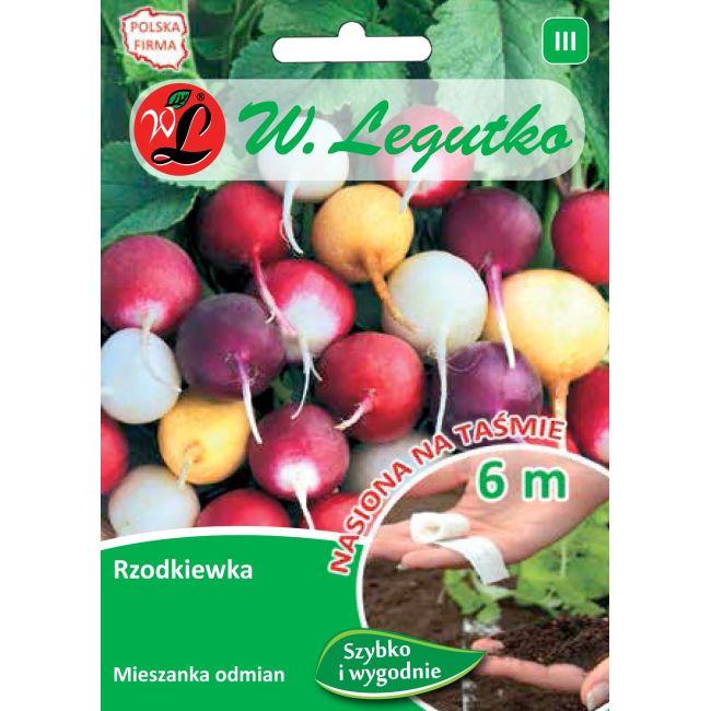 Rzodkiewka - mieszanka o zgrubieniach kulistych - taśma 6m
