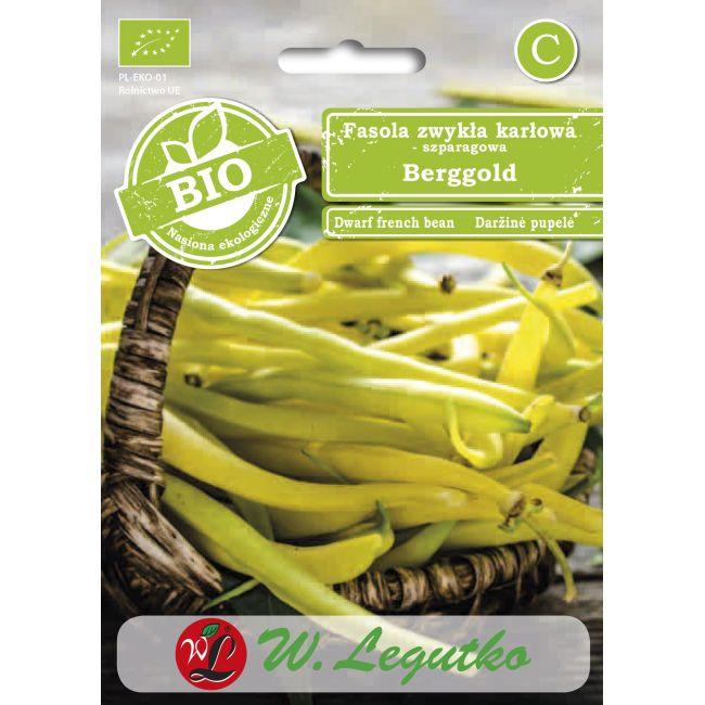 BIO - Fasola zwykła/Phaseolus vulgaris var. nanus/Berggold/żółte/30.00g