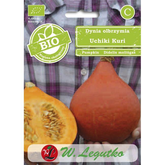BIO - Dynia olbrzymia/Cucurbita maxima/Uchiki Kuri/pomarańczowe/2.00g