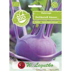 BIO - Kalarepa/Brassica oleracea convar.acephala var. gongylodes/Delikatess blauer/fioletowe/1.00g