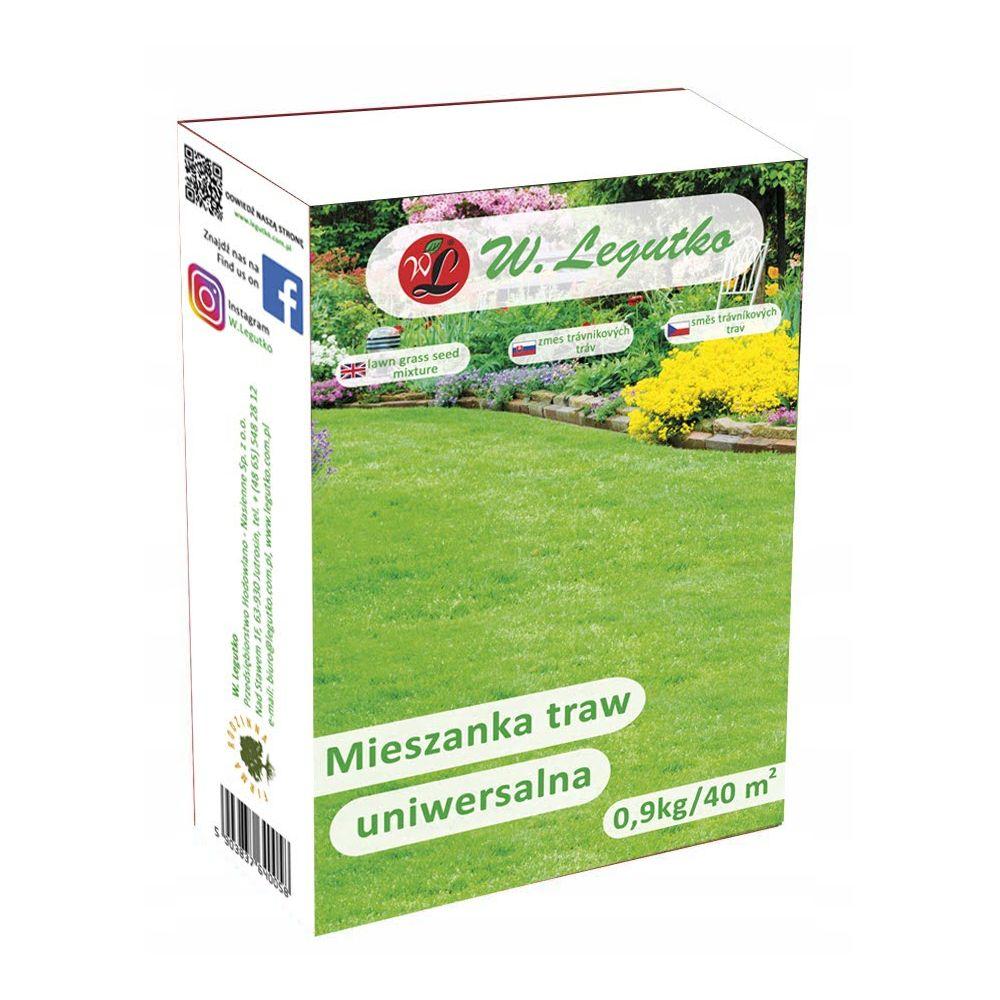 Mieszanka traw gazonowych - Uniwersalna/-/mieszanka odmian//0.90 kg
