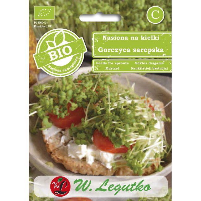 BIO - Nasiona na kiełki - gorczyca sarepska/Brassica juncea///5.00g