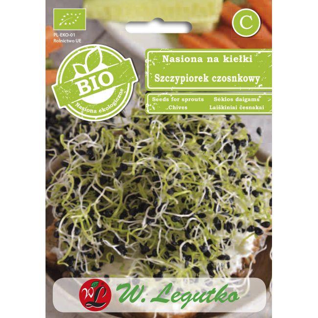 BIO - Nasiona na kiełki - szczypiorek czosnkowy/Allium tuberosum///3.00g