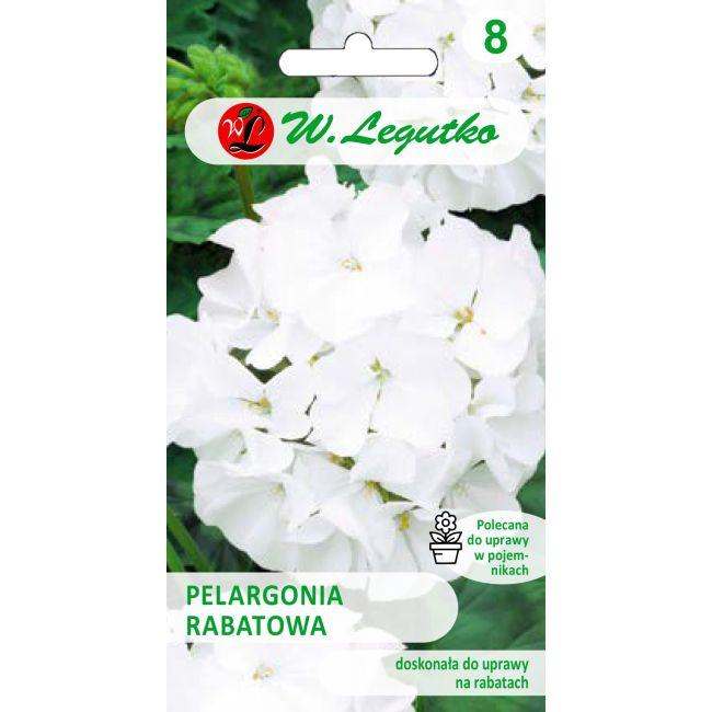 Pelargonia rabatowa - Gama F1- biała