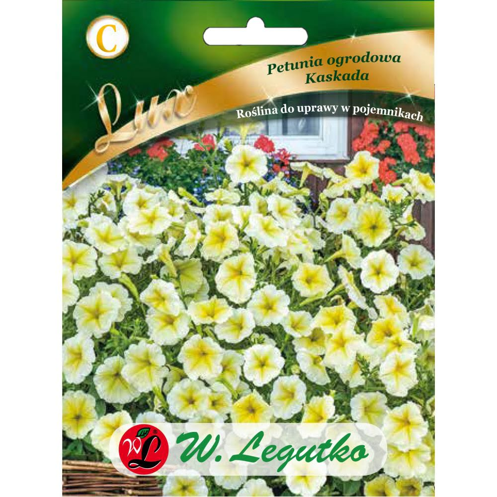 Petunia ogrodowa Kaskada - żółty