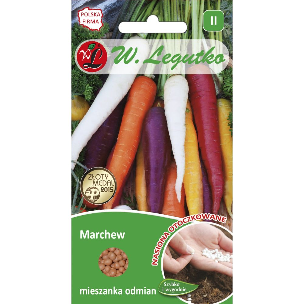 Marchew - mieszanka odmian wielobarwna - 400szt. nasion
