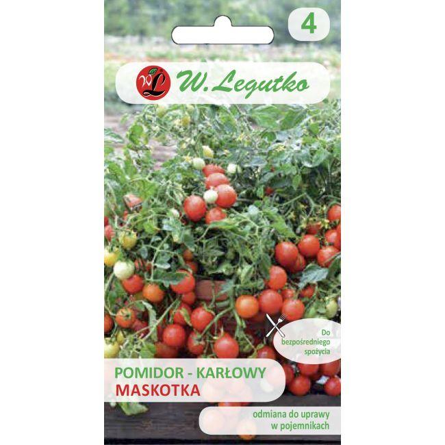 Pomidor gruntowy karłowy wiotkołodygowy - Maskotka